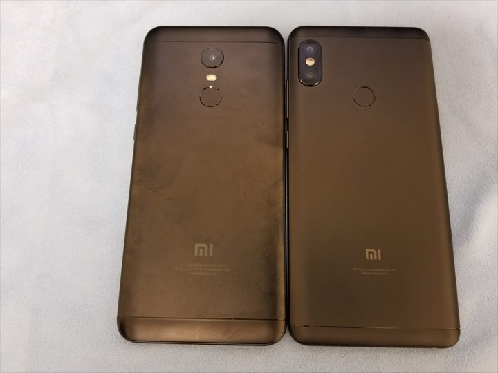 Xiaomi Redmi Note 5とRedmi 5 Plus比較2